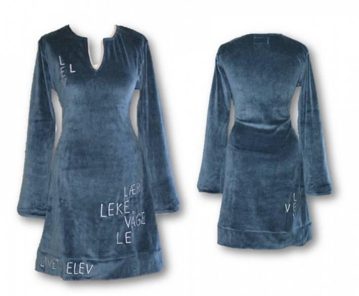 Lev vel kjole, Blå