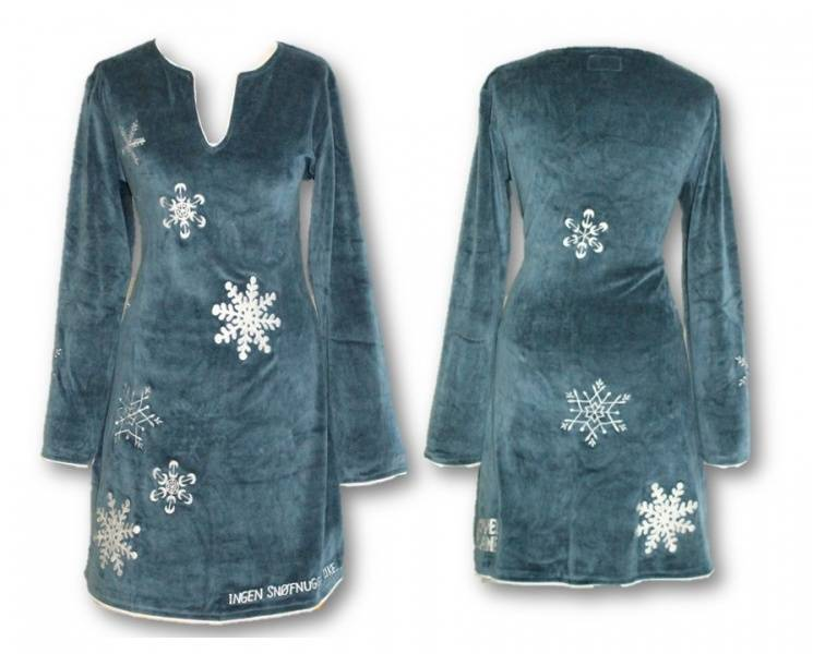 Snøfnugg kjole, Blå